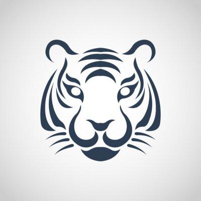Плакат Тигр логотип вектор