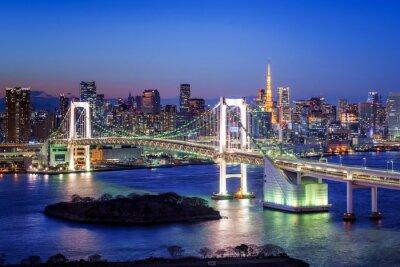 Плакат Tokyo Rainbow Bridge und Tokyo Tower