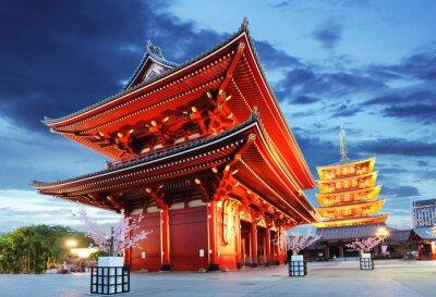 Плакат Токио - Сэнсодзи-дзи, Храм в Асакуса, Японии