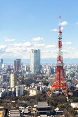 Плакат Токийская башня городской