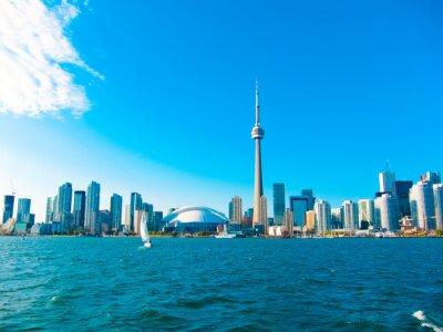 Плакат Toronto city skyline from the ferry travels to center island