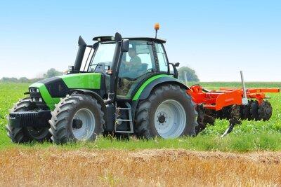 Плакат Трактор на поле