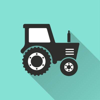 Плакат Трактор - вектор значок.