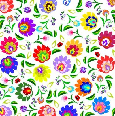 Плакат Традиционный польский вектор народная цветочный узор