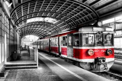 Плакат поезд