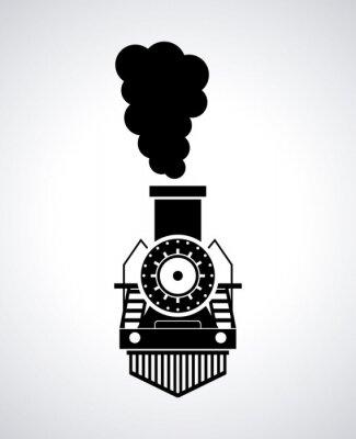 Плакат дизайн поезд