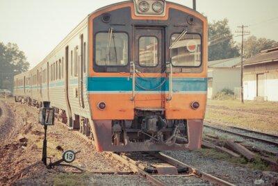 Плакат Поезд Винтаж