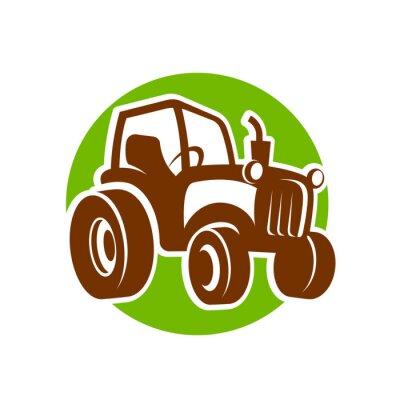 Плакат Трактор значок фермер