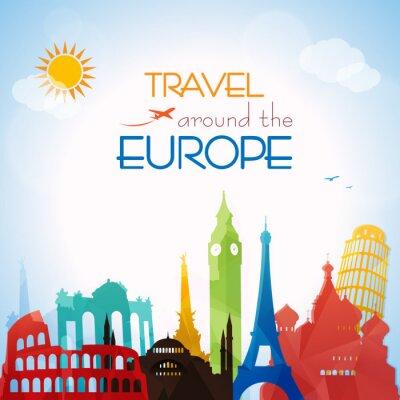 Плакат Путешествие по Европе