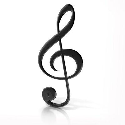 Плакат Скрипичный ключ на белом фоне