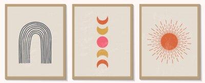 Плакат Trendy contemporary set of abstract geometric minimalist composition