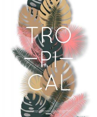 Плакат Тропический дизайн для баннера, плаката. Векторные иллюстрации.