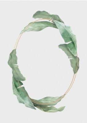 Плакат Tropical leaves frame