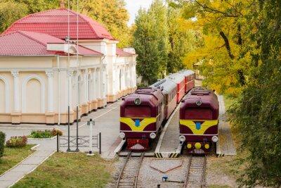Плакат Два старых локомотивов