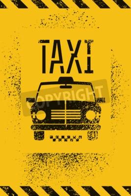 Плакат Типографски граффити гранж ретро такси постер. Векторная иллюстрация.