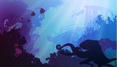 Плакат подводный