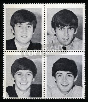 Плакат ВЕЛИКОБРИТАНИЯ - около 1963: Vintage товары марки каждый изображая образ члена