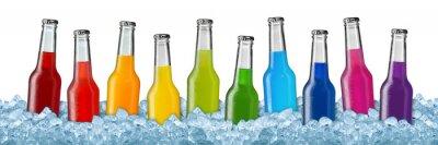 Плакат Различные напитки на колотым льдом