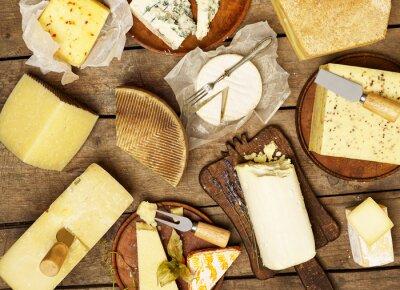Плакат Различные виды сыров
