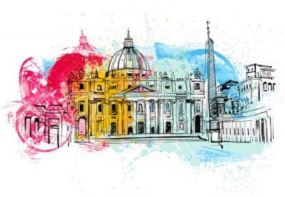 Плакат Ватикан Эскиз