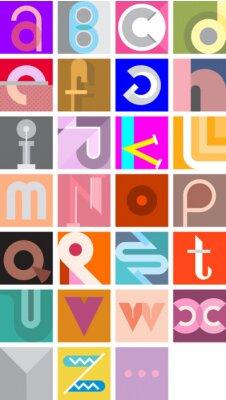 Плакат Вектор Абстрактный шрифт