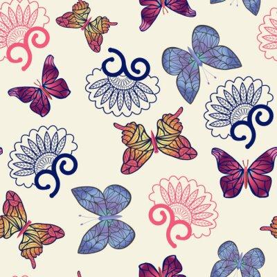 Плакат Векторные бабочки шаблон.