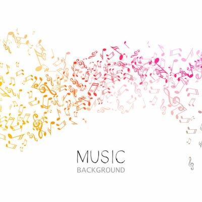 Плакат Векторные иллюстрации фона Абстрактный музыки