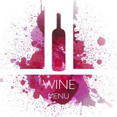 Плакат Векторная иллюстрация Wine шаблон