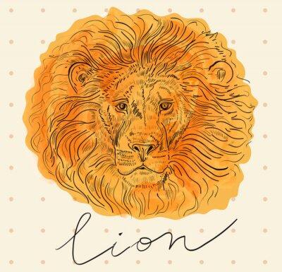 Плакат Векторная иллюстрация с головой льва