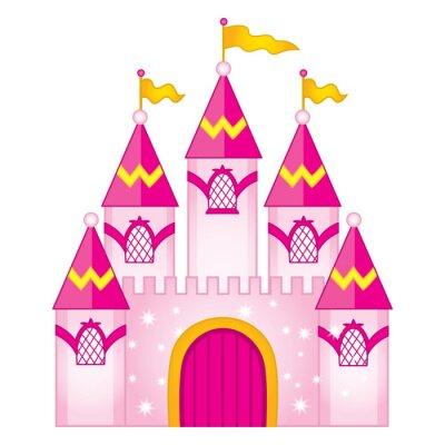 Плакат Векторный волшебный сказочный замок