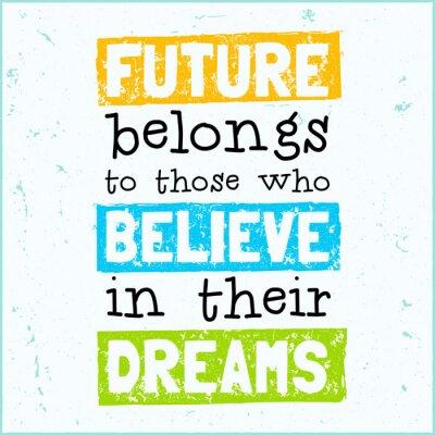 Плакат Вектор современный дизайн иллюстрация с заниженной талией фраза будущее