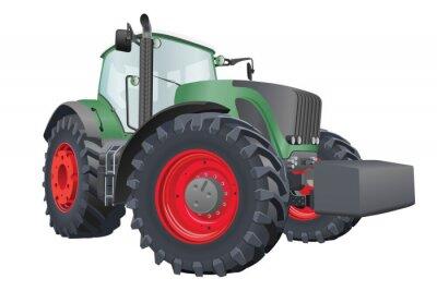 Плакат Вектор трактор