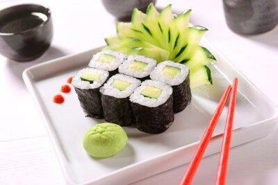 Плакат Vegan суши