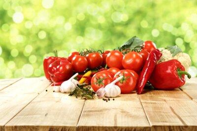 Плакат овощи