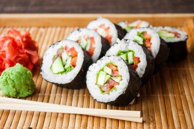 Плакат вегетарианское суши-ролл