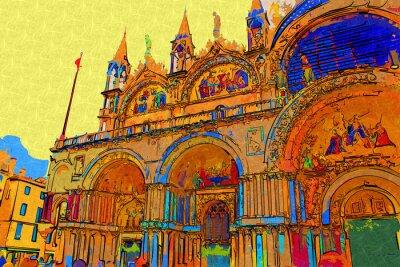 Плакат искусство иллюстрации Венеция