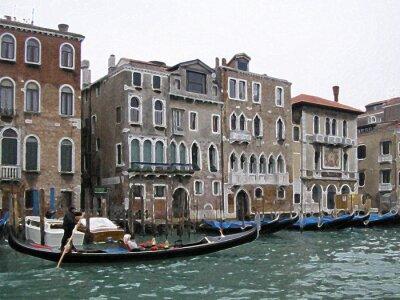 Плакат Венеция размытие