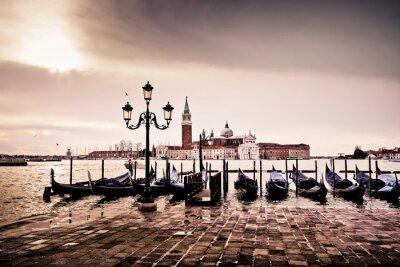 Плакат Venise Gondole Romantique амур Amoureux Lagune