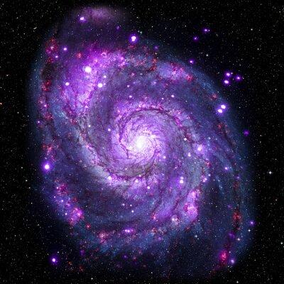 Плакат Посмотреть изображение системы Галактики изолированных элементов этого изображения, предоставленную NASA