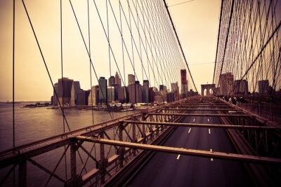 Плакат Вид на финансовый район от Бруклинский мост