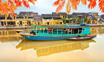 Плакат Вид на старый город Хой. Вьетнам
