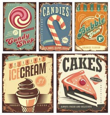 Плакат Урожай коллекция конфеты магазин оловянных знаков