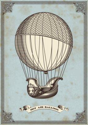 Плакат старинные карты с воздушного шара