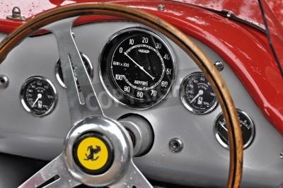 Плакат Vintage Ferrari dashboard