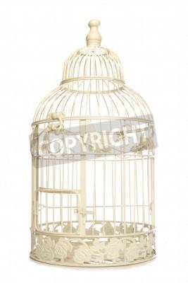 Плакат Vintage looking bird cage isolated studio cutout