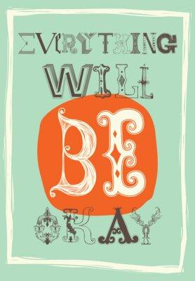 Плакат Урожай мотивационный постер. Все будет хорошо