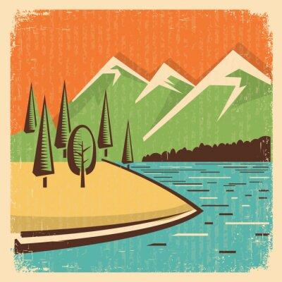 Плакат Урожай Природа горы пейзаж