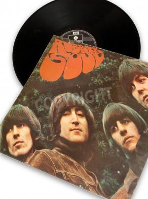 Плакат старинные оригинальные виниловые записи из рок-звезды Beatles Rubber Soul
