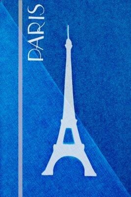 Плакат Урожай Париж почтовый - каллиграфия - ручной литерных дизайн Elemen