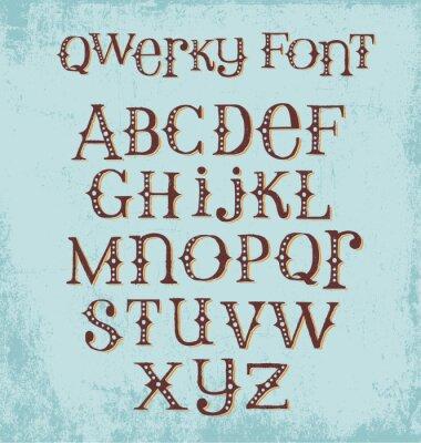 Плакат марочные изворотливый ручной обращается шрифт со смешанными верхними и нижними буквами
